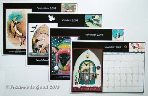 Suzanne Le Good 2019 calendar contents